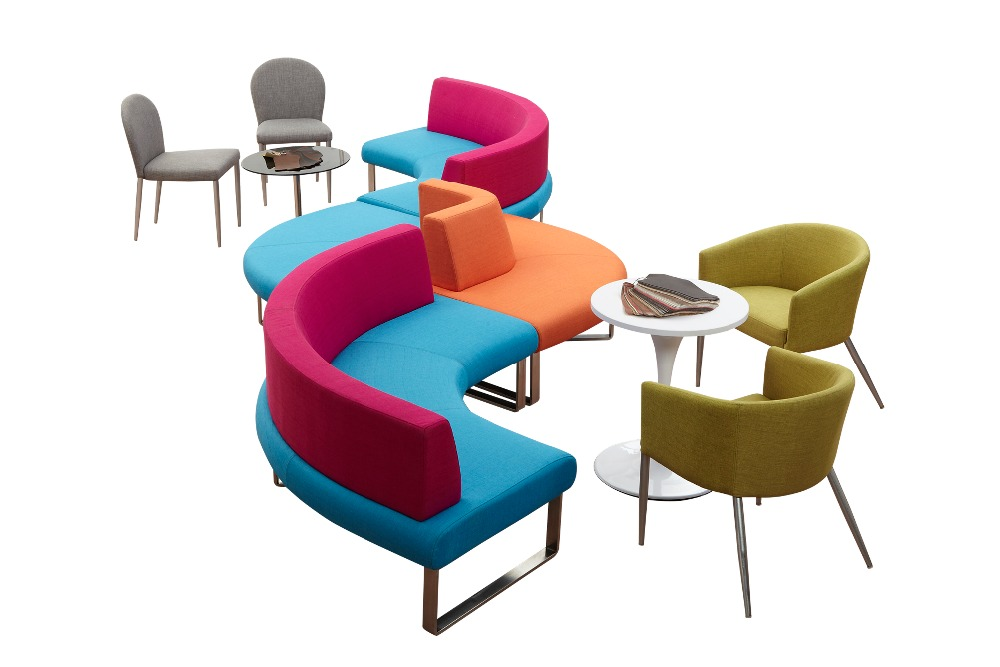 Colorful office furniture modern combination fabric for Colorful office furniture