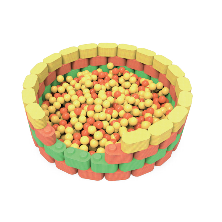 Coloful kids indoor playground EPP building block ball pool for sell