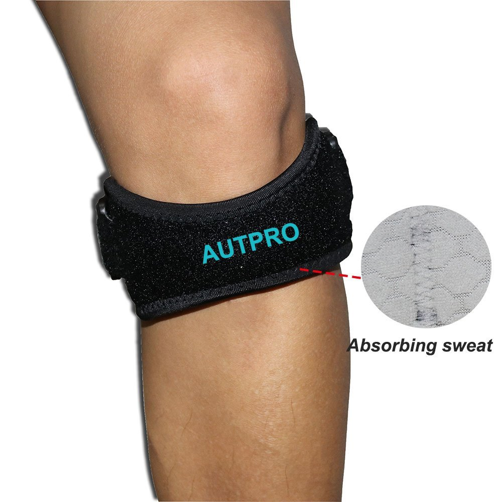 040fdf174f Get Quotations · Patella Knee Strap for Running, Fitness, Stairs  Climbing/Adjustable Patellar Tendon Support Band