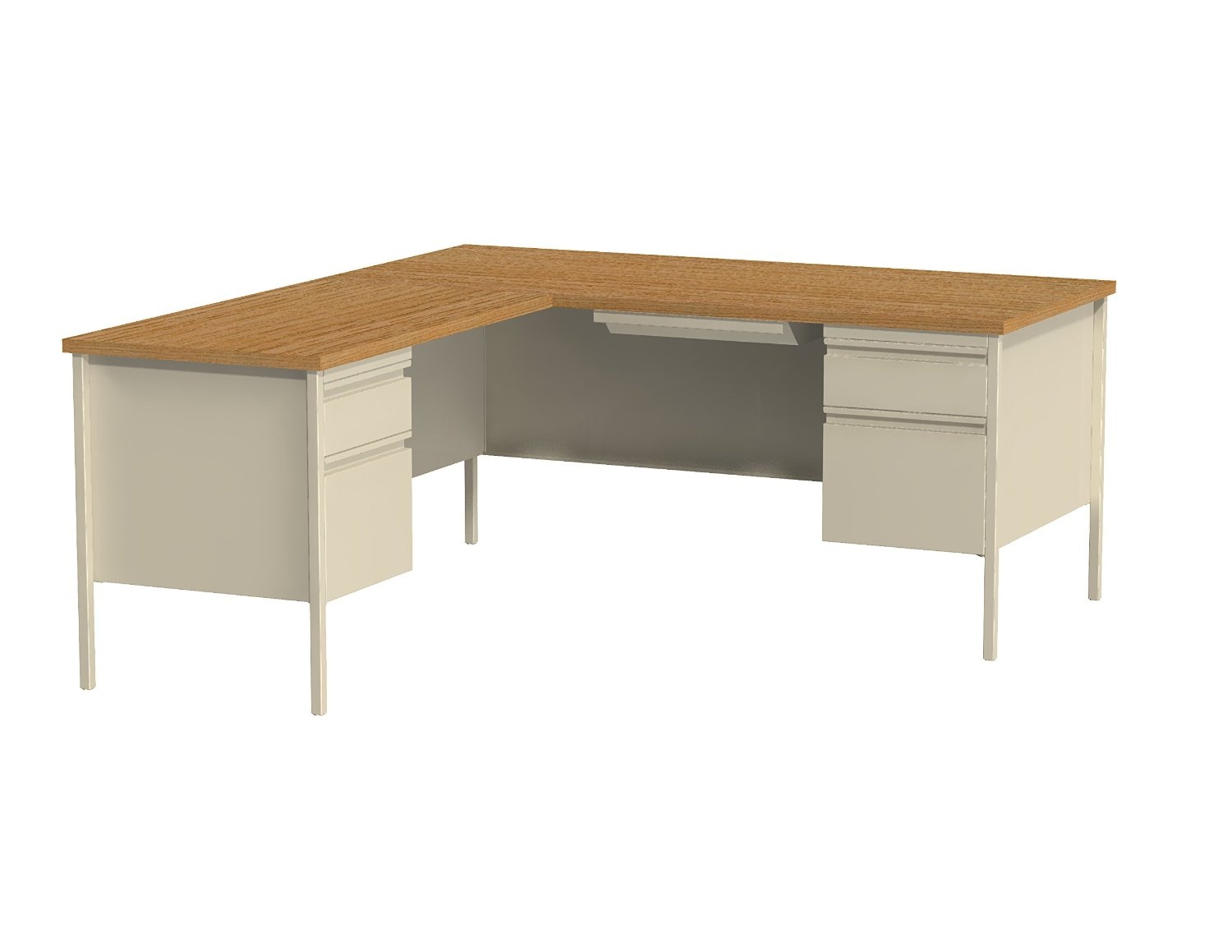 Product Review Demo · Office Dimensions L Inch Desk With Left Hand Return,  66 Inch By 72