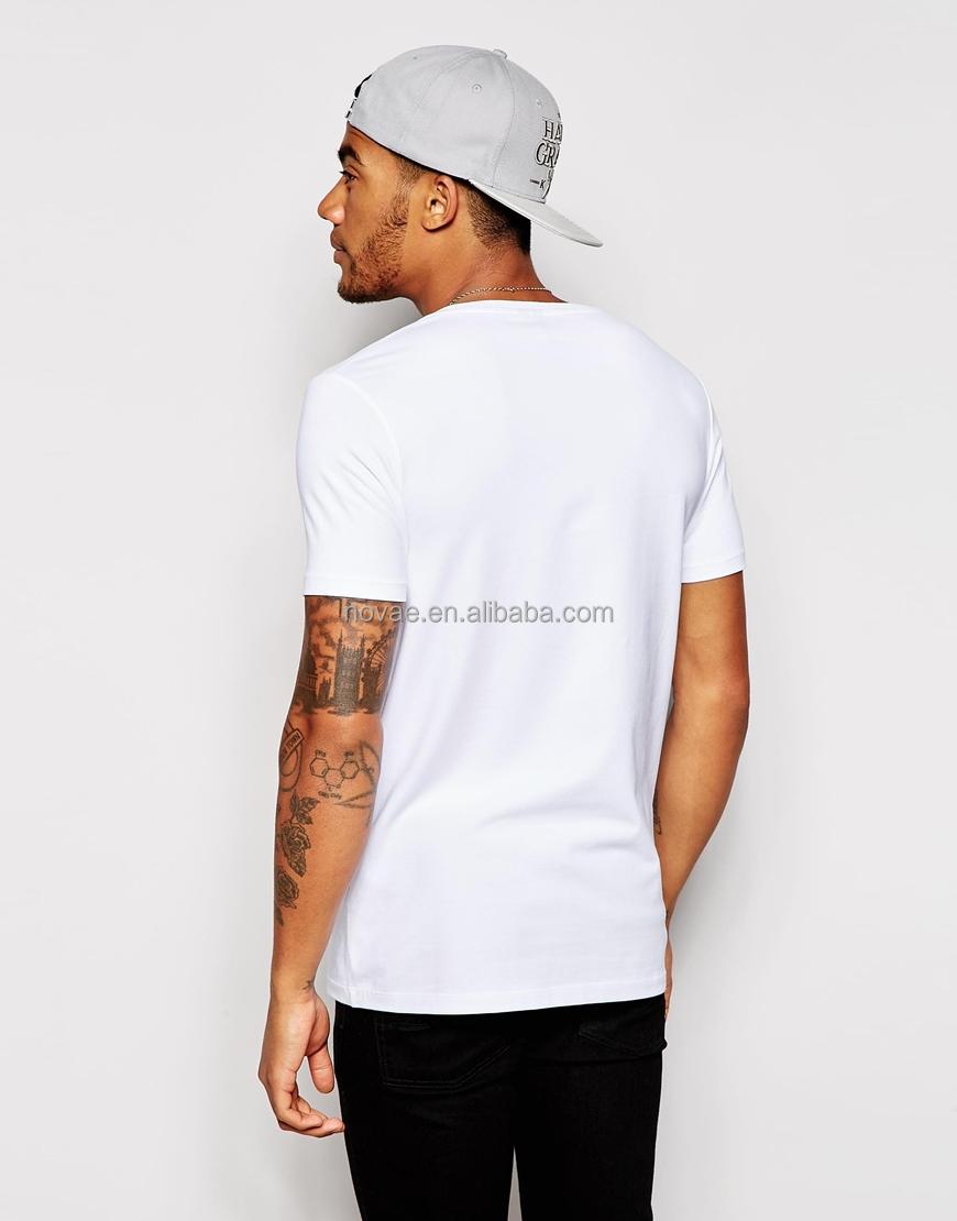 Custom Plain White Shirt Printing Customized High Quality Plain T