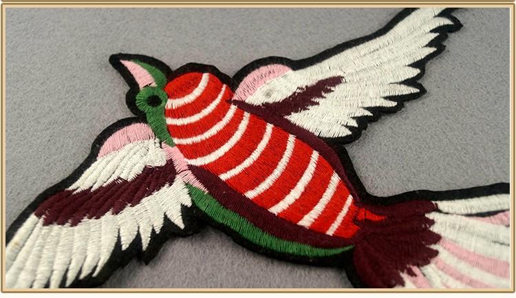 Uccello figura crochet applique tessuto di patch buy tessuto patch