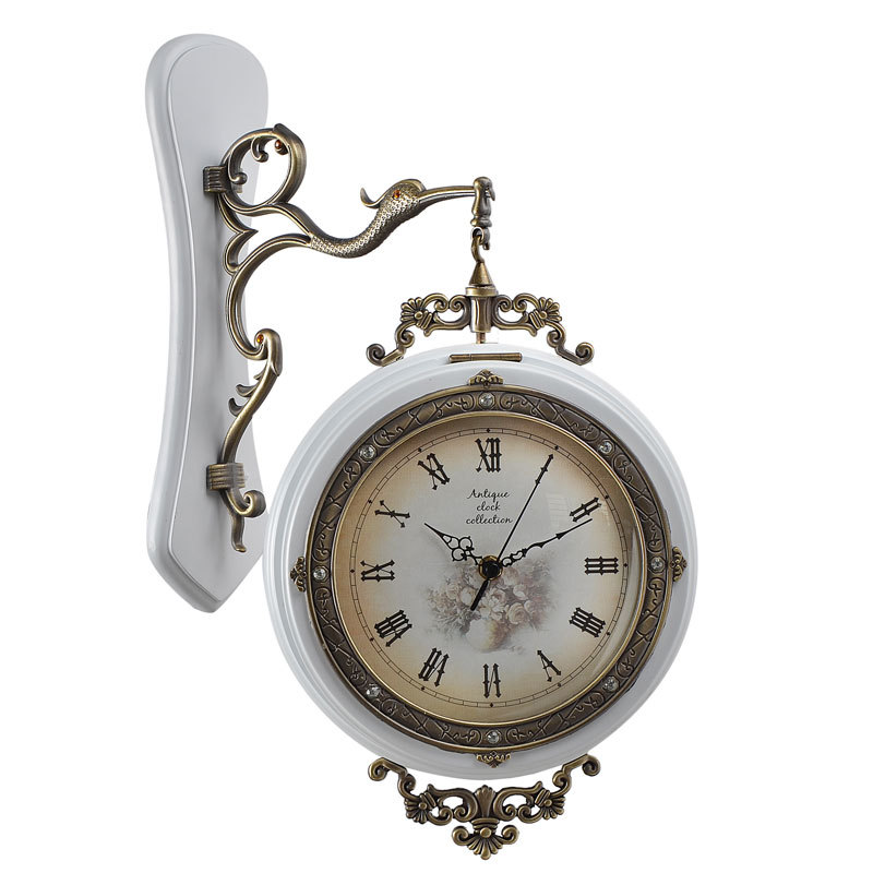 Large Decorative Wall Clocks Hanging Double Sided For Home Decor