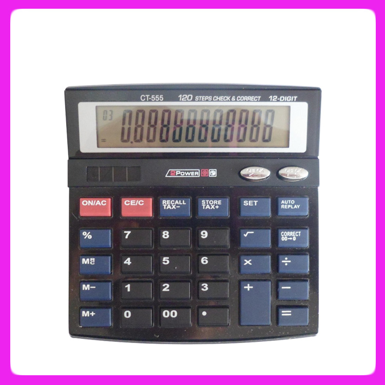 12-digits Electronic Tax Calculator Ct-555