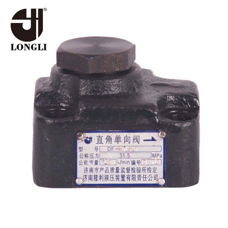 DF-B10K1 Hydraulic high pressure control one way angle casting iron valve