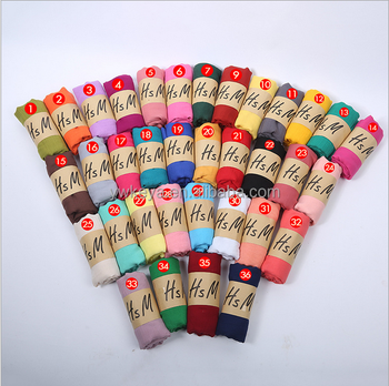wholesale Yiwu cheap plain solid color cotton linen women viscose scarf
