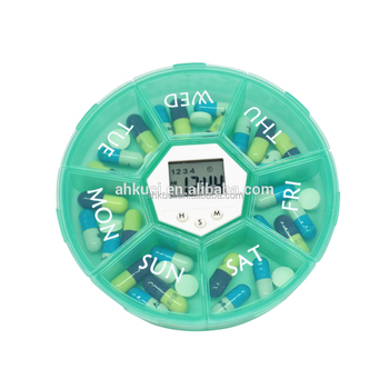 Weekly pill container with alarm electronic pill dispenser pill boxes with alarms
