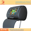 7 inch portable car dvd headrest monitor with leather zipper