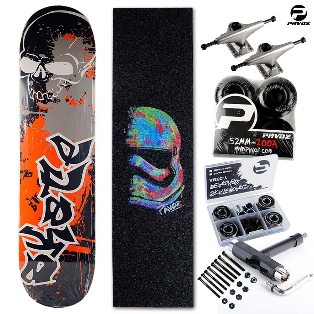 Pro Skateboard Wheels 52mm 100A Colorful Pavoz