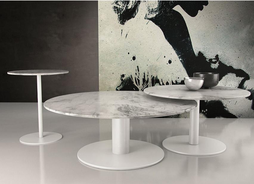 Marmo design nuovo di base in metallo top tavolino rotondo