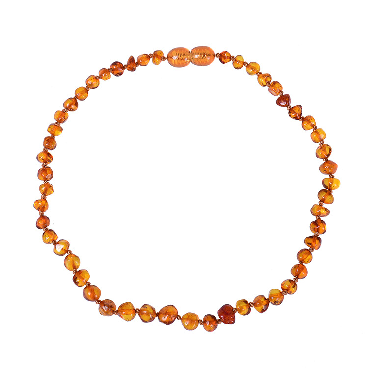 Genuine amber teething necklace pain reducing necklace
