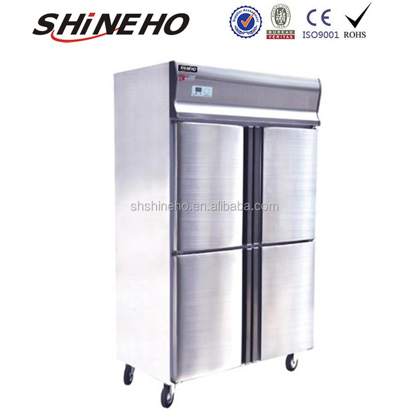 W456 Freezer Door Closer/four Door Upright Freezer/commercial Glass Door  Freezer
