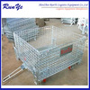 China product Rolling metal storage mesh wire cages with wheels