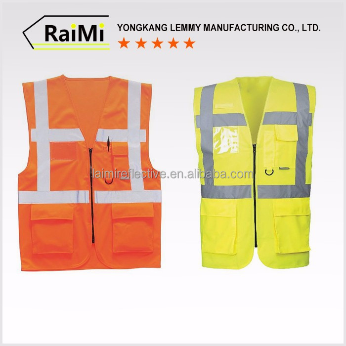 China Supplier Wholesale Reflective Vest Construction Safety Vest With Pockets