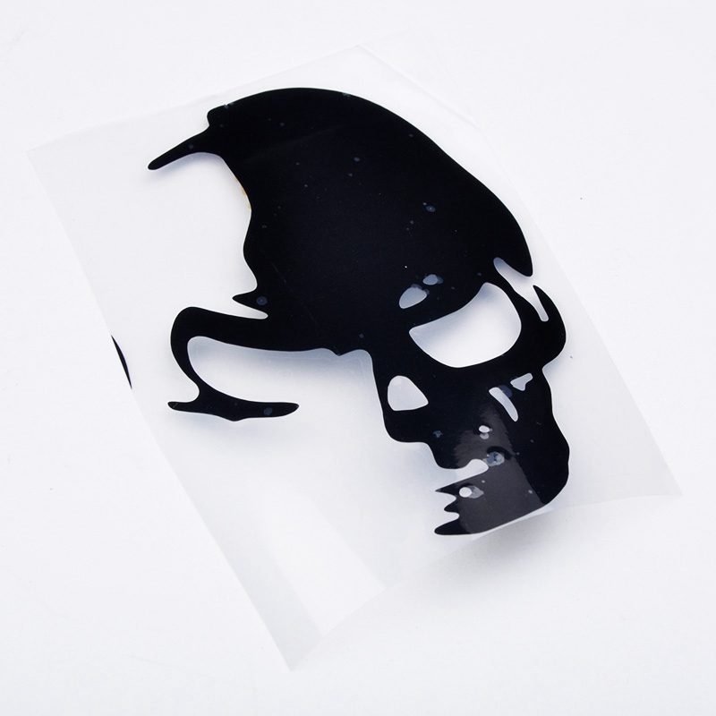 Factory Price 1PCS 8cm*12cm Cool Skull Car Reflective Stickers Funny And Creative Car Styling Car Decoration Decal