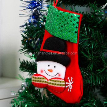 felt christmas stockings commercial christmas decorations for sale - Chinese Christmas Decorations