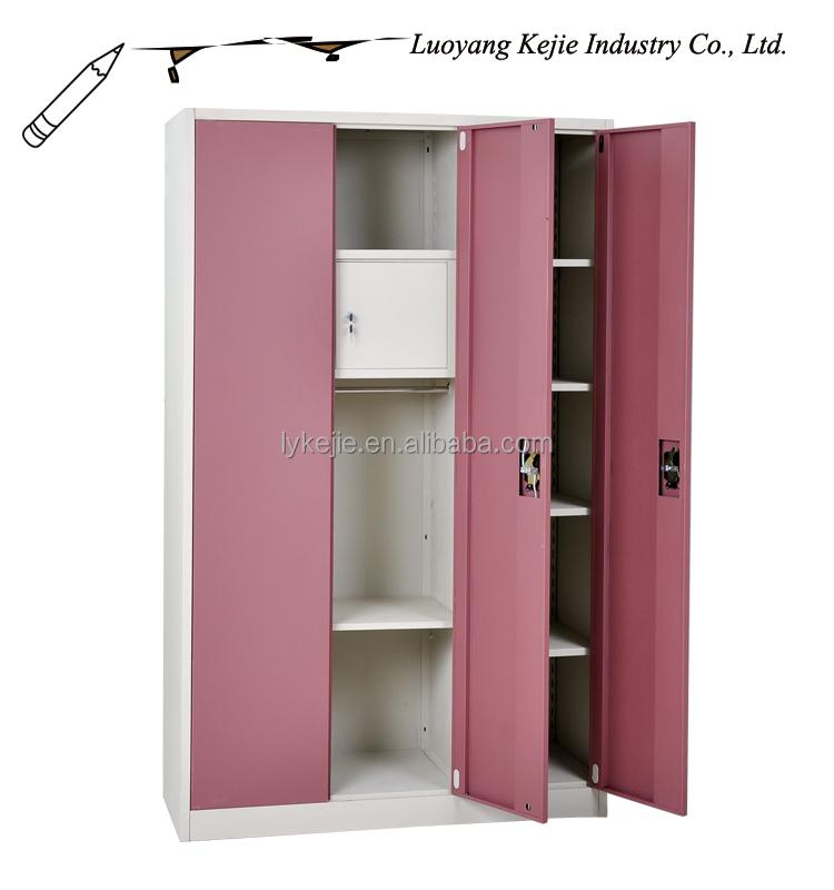 Metal Cupboard Steel 2 Door Wardrobe Kd Steel Wardrobe Portable ...