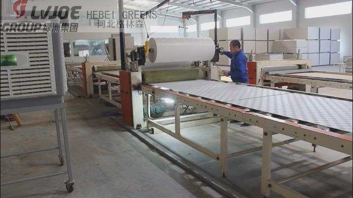aluminium foil laminating machine/600*600 gypsum ceiling tile making machine