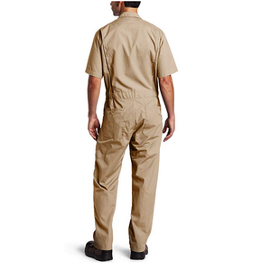 Khaki Short-Sleeve Coverall Work Wear Uniforms