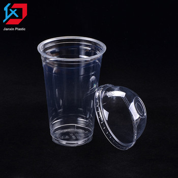 Professional Customized 8 12 16oz Pp Disposable Plastic Juice Cups With Dome Lid