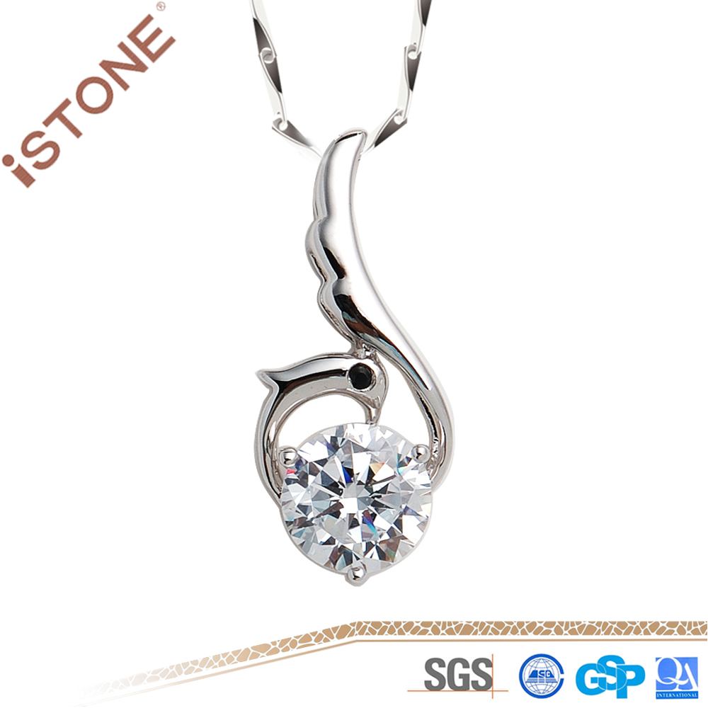 Istone Wholesale Fashion Artficial <strong>Diamond</strong> Pendant Sliver S925 Chain For Decoration