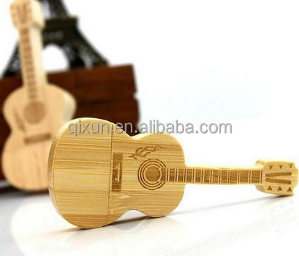 paypal accept laser engraved custom logo 4gb wooden generic usb flash drive disk, guitar flash drive usb