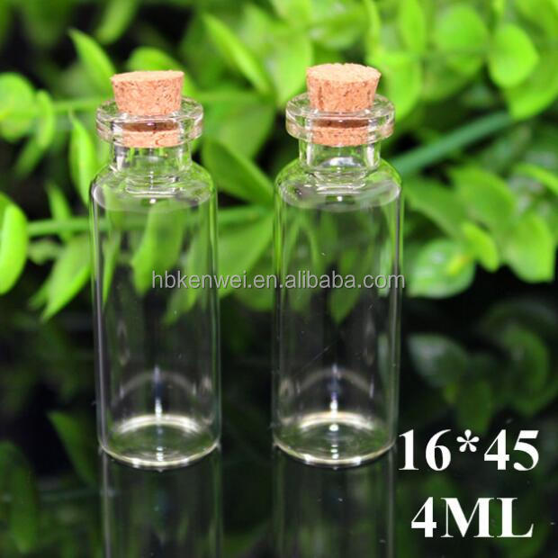 5ml Mini Small Cork Stopper Glass Vial Jars Containers Bottle Wholesale
