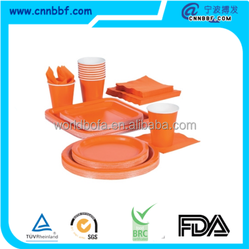 Party Tableware Set Disposable plastic ware for party supply