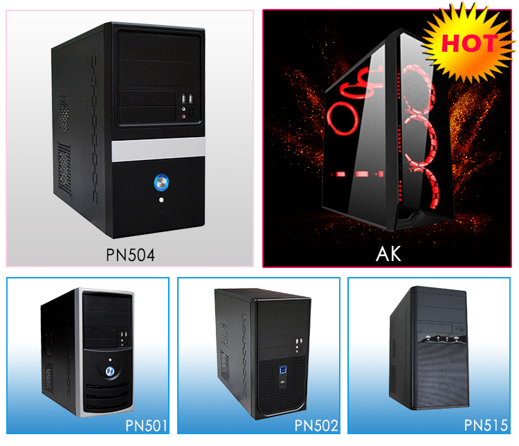 Latest New Cheap lock panel SECC Alarm Speaker Air duct Screwless Micro MATX computer Case CPU chassis cases