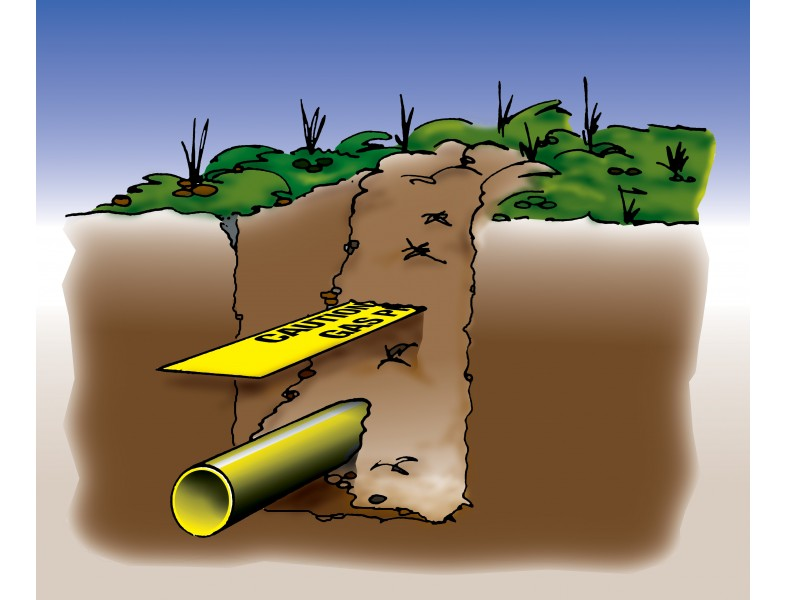 Colorfast And Chemically Inert Gas Water Sewer Underground