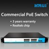 16 port 10/100/1000Mbps gigabit POE PSD Module Ethernet switch for POE CCTV Camera