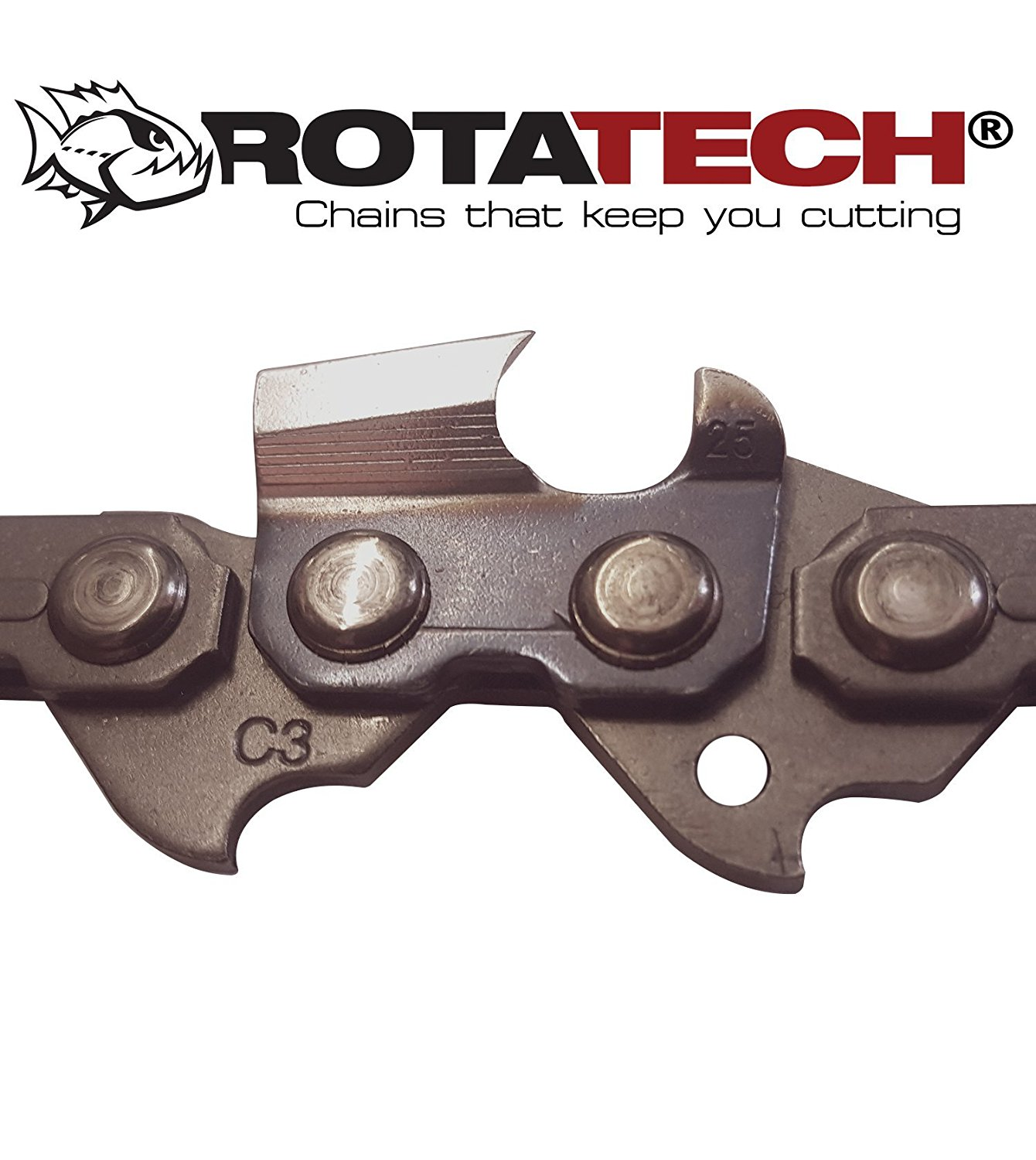 Get Quotations · Genuine Rotatech 18-Inch Chain Saw Chain Fits Craftsman,  Echo, Homelite, McCulloch