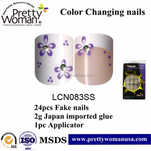 human finger nails for sell Pretty Woman brand fake nails new design color changing nails