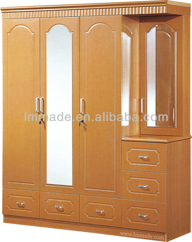 4 Doors Mirrored Pvc Wardrobe Dressing Table Designs Buy