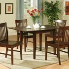 Hot Selling Countryside Style Natural Edge Solid Wood Table and Chair Set Dining Room Table and Chair