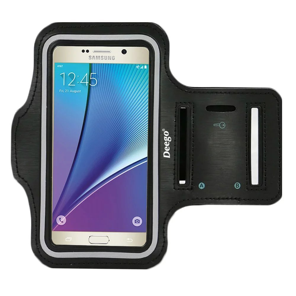 Galaxy S5, Galaxy S6,galaxy S6 Edge Sport Armband , Nancy's Shop Easy Fitting Sports Universal Running Armband with Build in Screen Protect Case Cover Running Band Stylish Reflective Walking Exercise Mount Sports Universal Armband Case+ Key Holder Slot for Samsung Galaxy S 5 , Samsung Galaxy