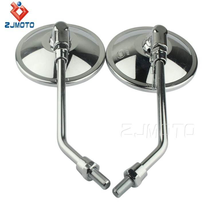 Motorcycle Accessories Chrome ABS Plastic Glass Mirrors Motorcycle Mirrors Fit For Most Motorcycle