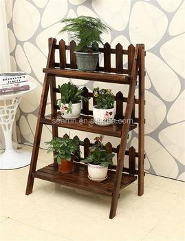 Wooden Flower Pot Rack Hanging