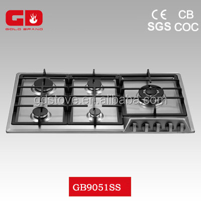 Top grade 304 stainless steel gas stove high pressure/ CB, CE, UL, 90cm width gas cooktop for household