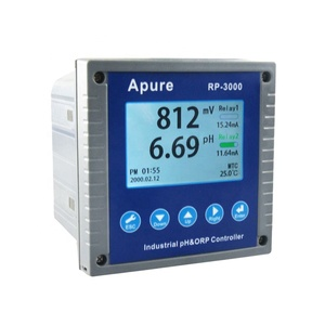 Apure 4-20ma 2 relays waste tap or swimming pool water tester automatic digital ph and orp meter controller