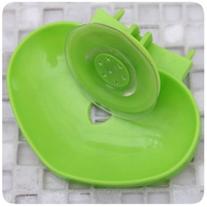 J455 Wall Plastic Strong Suction Soap Dish/Box for Kitchen and Bathroom