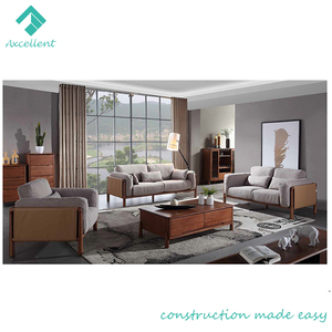 Competitive price wooden I shape sofa furniture with price