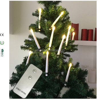 eco friendly abs remote control cordless candles led christmas decorative light with clip