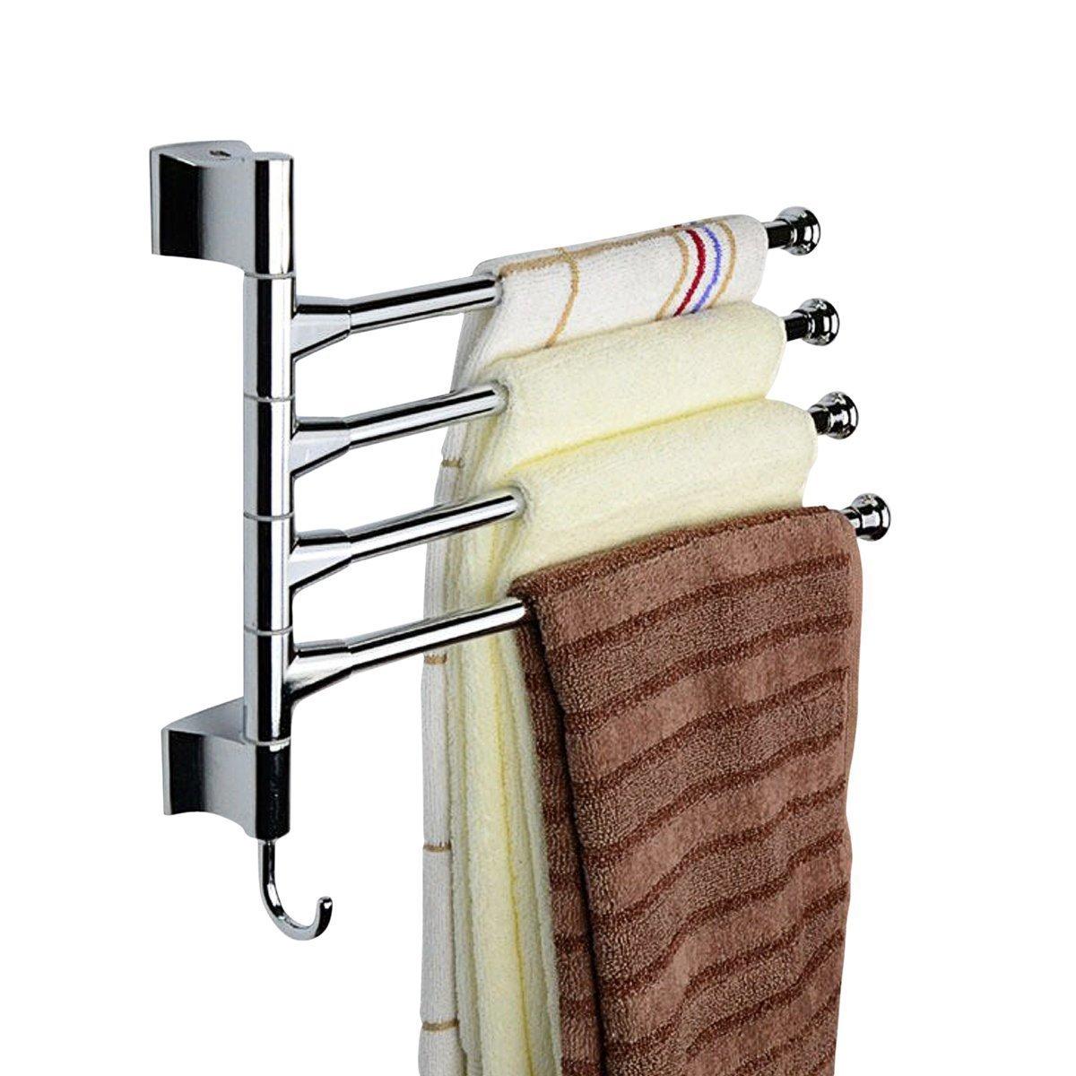 Rack swinging towel