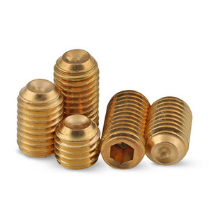 M8 M12 tin plated Brass flat point set screw