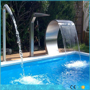 Customized Design Stainless Steel Swimming Pool Waterfall Stainless Steel Fountain pool equipment