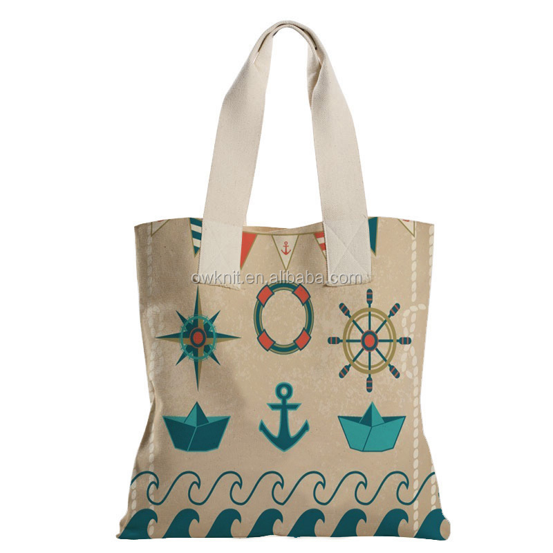 China Supplier Custom Print Handle Style Beach Bags