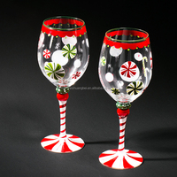 Funny Gift Ideas for Wine Lovers ; Decorative Red or White Wine Glass ; Hand Painted