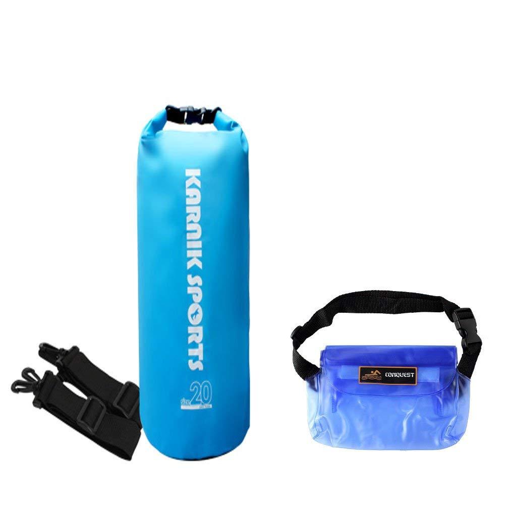 6896d332d7 Get Quotations · Karnik Premium Water Resistant Roll Top Sports Dry Bag 5L  10L 20L with Adjustable Strap