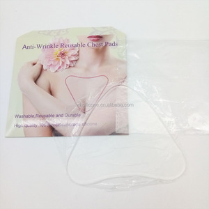 Wholesale High Quality Women Reusable Heart Shape Decollette Pads Silicone Chest Wrinkles Pad